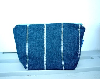 Men Toiletry bag, lined with pockets, cosmetic bag, big cosmetic bag, make up bag, dopp kit