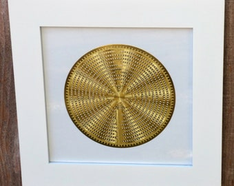 Framed Labyrinth 18K Gold Plated Healing Grid