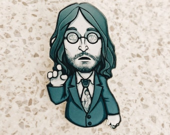 John Lennon Acrylic Brooch / John Lennon 60s Pin / Pop Star Beatles Brooch / Cool Retro John Lennon Pin