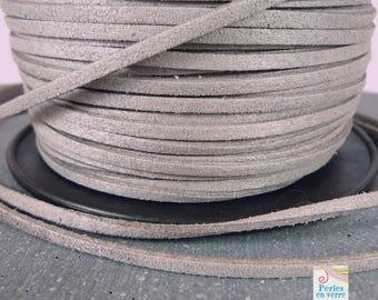 2 meters (fil53) grey suede cord