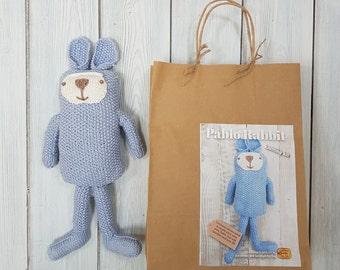 Pablo Rabbit breien Kit - Maak je eigen konijn - gemakkelijk te breien patroon