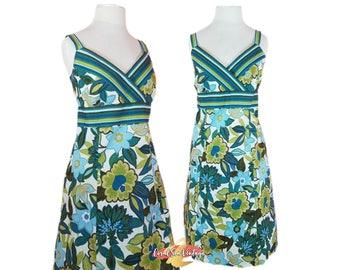 Vintage Hawaiian Dress - Retro Rockabilly Dress - 80s Dress 90s Sundress - Summer Halter Dress - R&K Originals - VOLUP Fits Sizes 14 16
