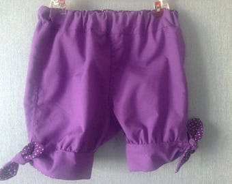 Lilac and pea color shorts for this summer