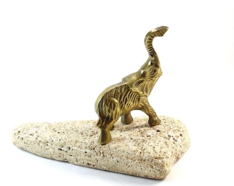 Elephant Figurine - Brass Figurine - Brass Elephant - Elephant Statue - Elephant Decor - Animal figurine - Elephant Paperweight