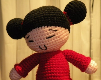 PDF - Pucca - 9 inches - amigurumi doll crochet pattern - Available in English or Spanish language