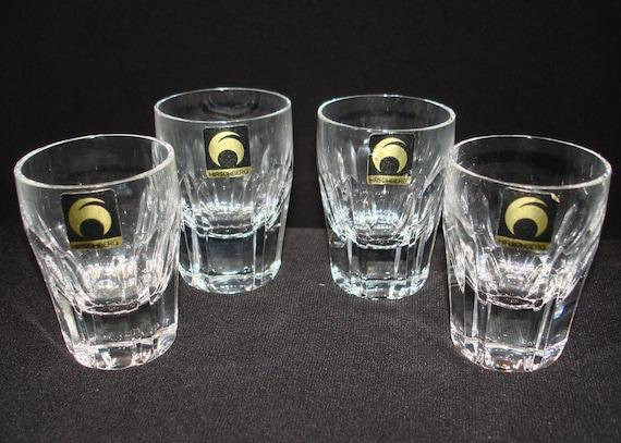 FREE SHIPPING-Vintage-Hirschberg-German-Set Of Four-Barware-Shot Glasses-Mid Century