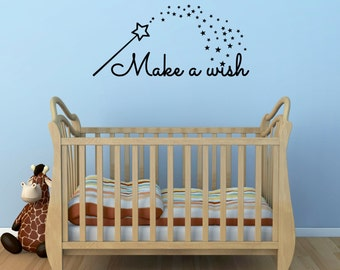 Make A Wish Fairytale Wall Art Sticker/Decal for Child's Nursery Bedroom or Playroom