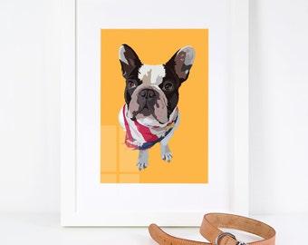Personalised Pet Illustration Print