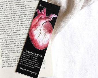 Bookmark heart anatomical Heart Anatomy • • • Ernest Hemingway • Bookmark