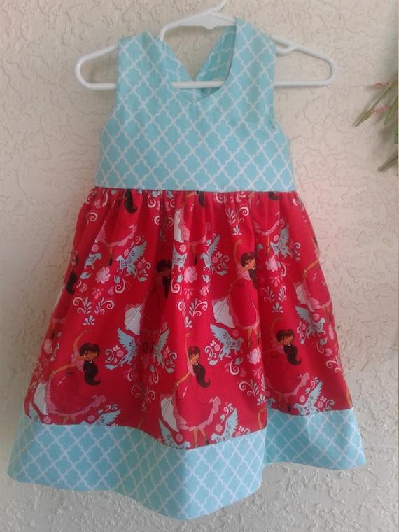 Elena of Avalor Dress, Princess Dress, Toddler Princess Dress, Birthday Dress,Princess Elena dress,Elena Sundress,Disney Princess