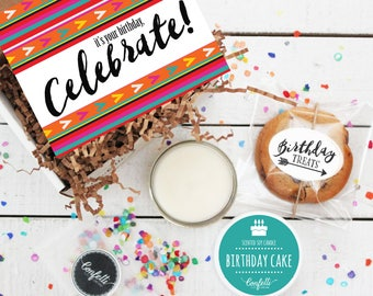 Mini It's Your Birthday Celebrate Gift Box - Send a Birthday Gift   Birthday in a Box   Friend Gift   Coworker Gift   Birthday Card