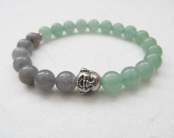 Buddha bracelet, yoga bracelet, gemstone bracelet, aventurine bracelet