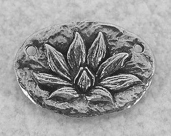 Green Girl Studios Pewter Lotus Blossom Pendant