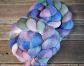 Polwarth Combed Top, Spinning Fiber, Hand Dyed