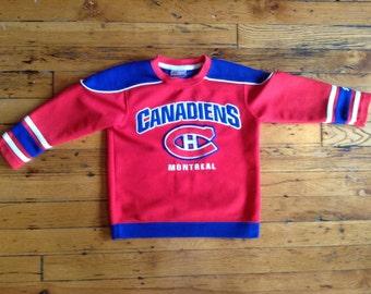 Vintage NHL kids Montreal Canadiens hockey jersey
