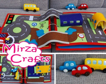 PATTERN & TUTORIAL 2 Quiet book pages - Car and Traffic roads