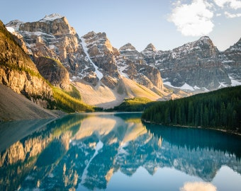 Mountain Photography, Moraine Lake, Banff, Canadian Photography, Mountain Reflection, Mountain Print, Banff Print, Alberta, Canada Print