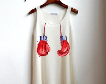 boxing gloves Shirt - boxing Tank Top - boob boobs Tank Top - boxing girl Clothing Tank Top Womens