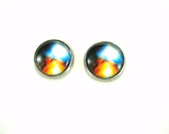 Galaxy  Earrings Stainless Steel Earrings Nebula  Earring  Outer Space Stud Earring  Fantasy  Universe  Post  Earring