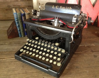 1930s L C Smith and Corona Typewriter Prop 12 inch Carriage Working Order