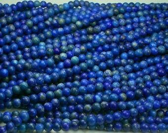 Lapis Lazuli Beads 3.25mm Blue Beads 15.5 Inch Strand lap/3.25