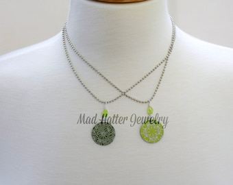 Green Anodized Aluminum Necklaces