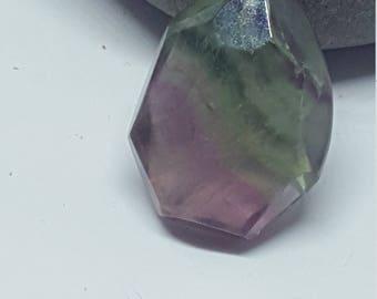 925 Silver Fluorite  Pendant on Silver chain, Chakra Crystal, Reiki, Crystal Healing
