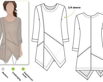 Lani Woven Tunic - Sizes 10, 12, 14 - Women's Top PDF Sewing Pattern by Style Arc - Sewing Project - Digital Pattern