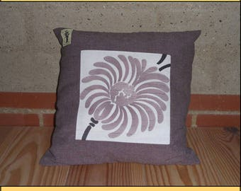 "CUSHION ""Flower purple square"""