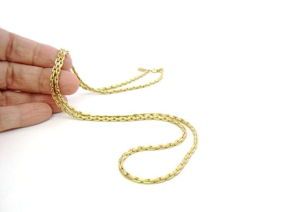 Vintage Monet Gold Tone Link Fashion Necklace