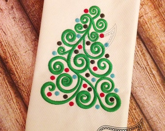 New Swirl tree embroidery design