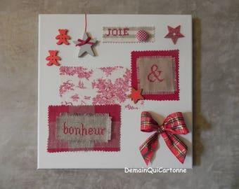 Decorative red on Valentine's day canvas