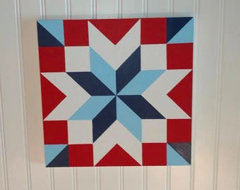 Barn Quilt Hand-Painted 1'x1'