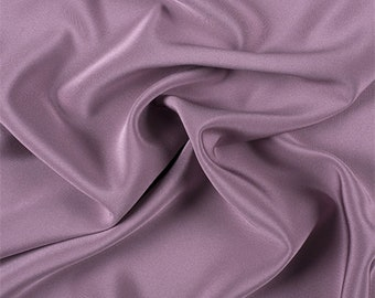Mauve 4 Ply Silk Crepe, Fabric By The Yard