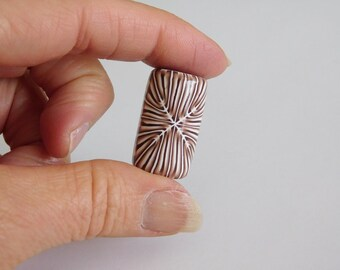 Polymer Clay Dread Bead with 7 mm bead hole, polymer clay large hole bead
