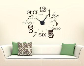 Modern wall clock wall clock numbers international new