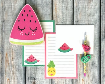 Stationery Set - kawaii fruit - letter writing