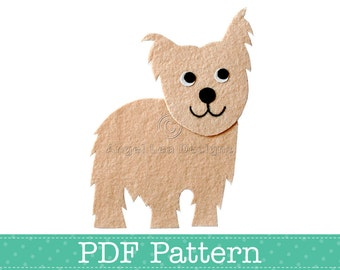 Yorkie Applique Template, Yorkshire Terrier Dog, DIY, Children, PDF Pattern by Angel Lea Designs