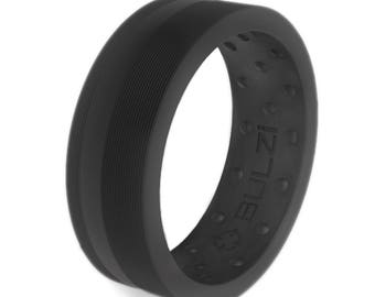 BULZi Beveled Massaging Comfort Fit Silicone Wedding Ring 1