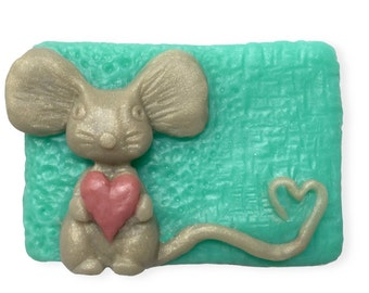 Decorative Soap || Hand Sculpted Soap Design || The Loving Mouse || Housewarming, Get Well Soon, Birthday, Holiday Gift