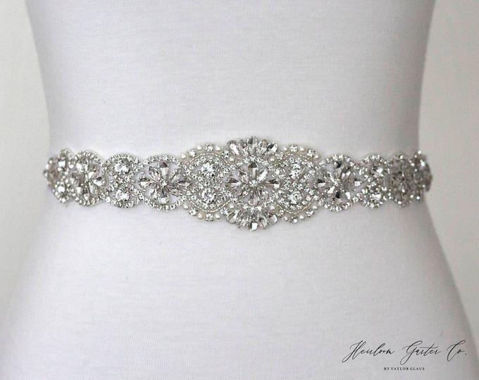 Bridal Belt, Bridal Sash, Wedding Belt, Wedding Sash Rhinestone and Pearl Sash BO3S