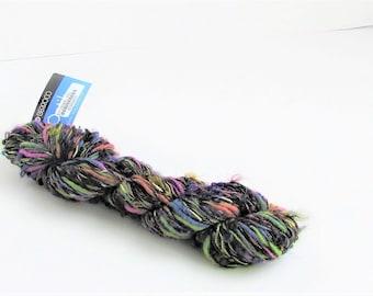 Optik 4923, Berroco yarn, novelty, boucle, blue, violet, lime, black, destash