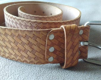 "Men's Leather Belt 51"" Western Wear Heavy Duty Top Grade Tool Belt"