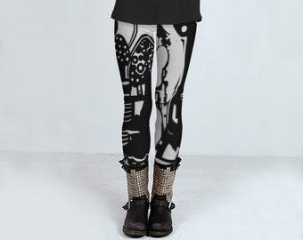 Leggings für Frauen, enge Mode Yogahose, footless Strumpfhosen, komfortabel Strumpfhosen Hose, magische Pilz Design für sie von Felicianation Tinte