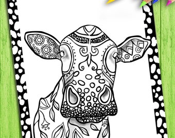 Adult Coloring Book, Page from Coloring Book For Adults, Animals, Colouring Page For Download