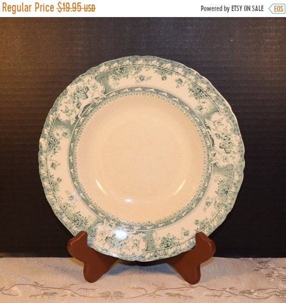 Delayed Shipping Wedgewood Phoebe Blue Green Bowl Vintage 1900s Wedgewood China Blue Green Floral Bowl Made in England Royal Porcelain Dinne