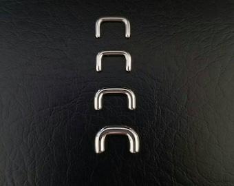 16g 14g 12g 10g Steel Septum Retainer Hide Your Piercing! 316lvm Stainless Steel Jewelry