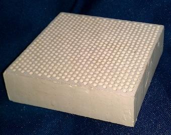 Ceramic Honeycomb Solder Block 3 x 3 inch x 20 mm