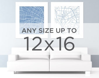 """12x16"""" Map Art Print: Any city and color in the shop"""