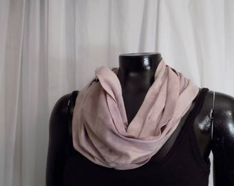 Eco Dyed Lavender Jersey Infinity Scarf with Madder and Metal